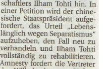 Artikel der Wilhelmshavener Zeitung vom 09.10.2015
