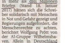 Artikel der Wilhelmshavener Zeitung vom 27.01.2017